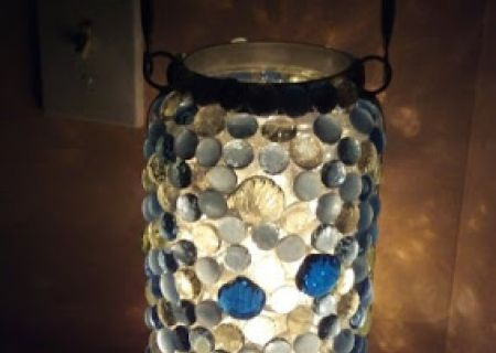 The only light in the room came from a jar-like nightlight on nightstand.